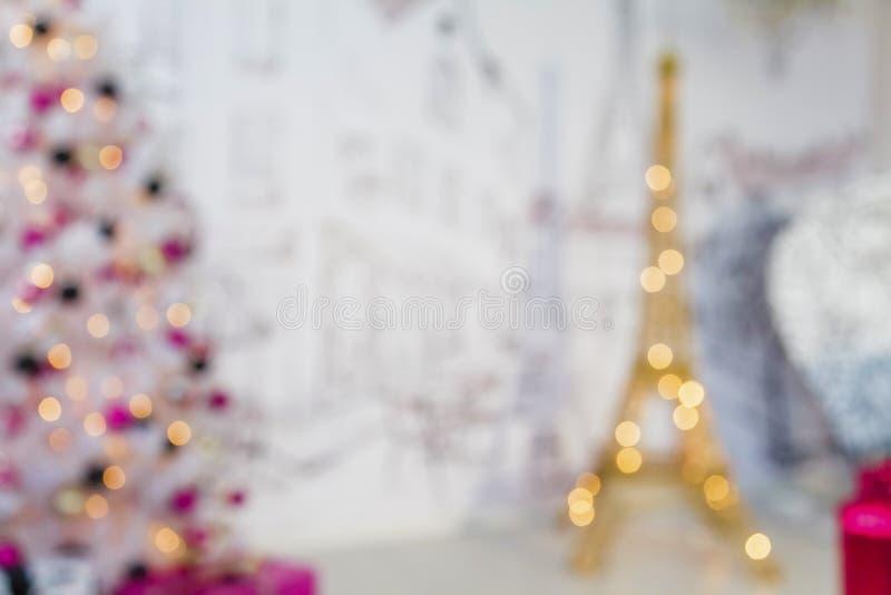 Torre Eiffel do ano novo imagens de stock royalty free