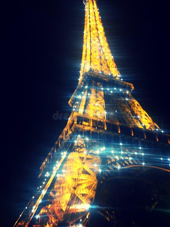 Torre Eiffel do brilho fotografia de stock