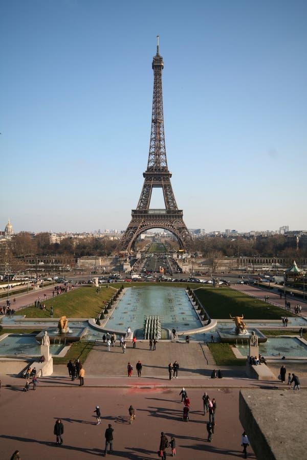 Torre Eiffel e palais de chaillot fotos de stock royalty free