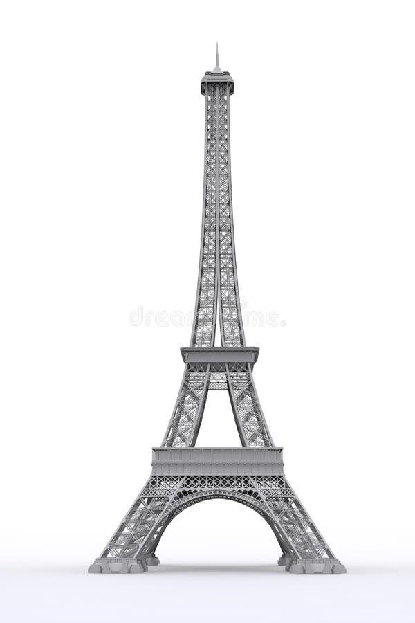 Torre Eiffel em 3D ilustração do vetor