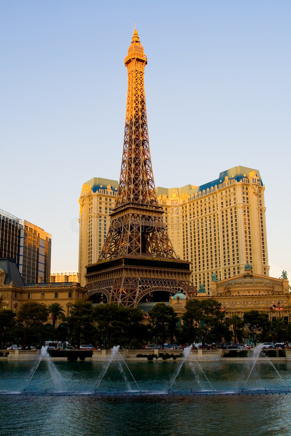 Torre Eiffel em Las Vegas foto de stock
