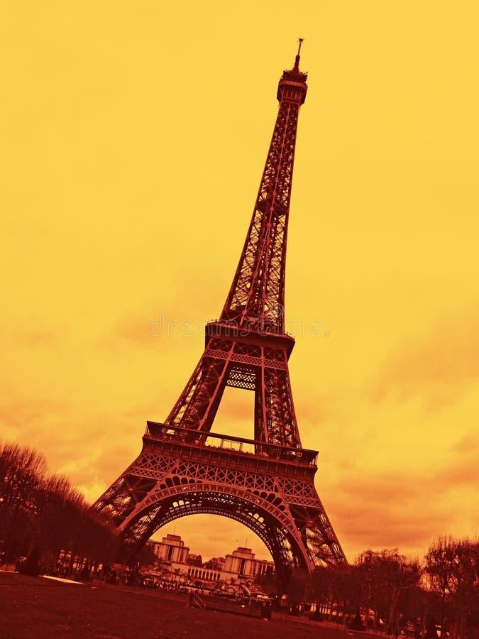 Torre Eiffel em Paris fotos de stock