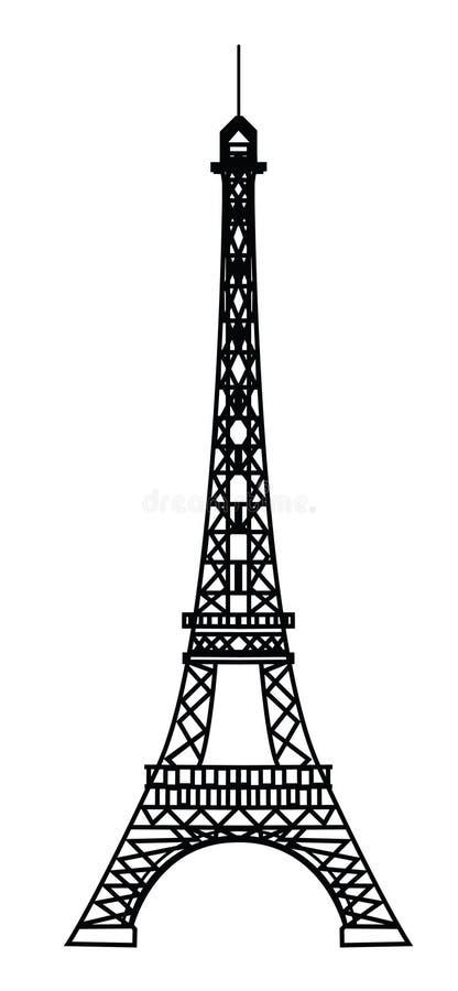 Torre Eiffel em Paris ilustração royalty free