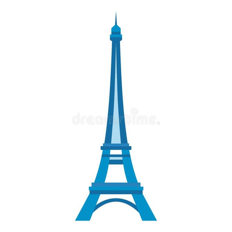 Torre Eiffel em Paris ilustração stock