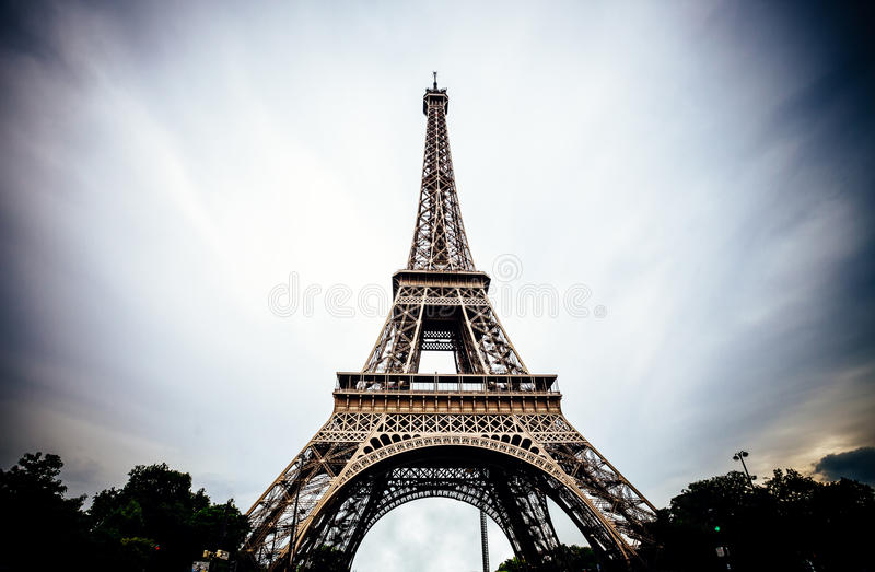 Torre Eiffel em Paris fotos de stock royalty free