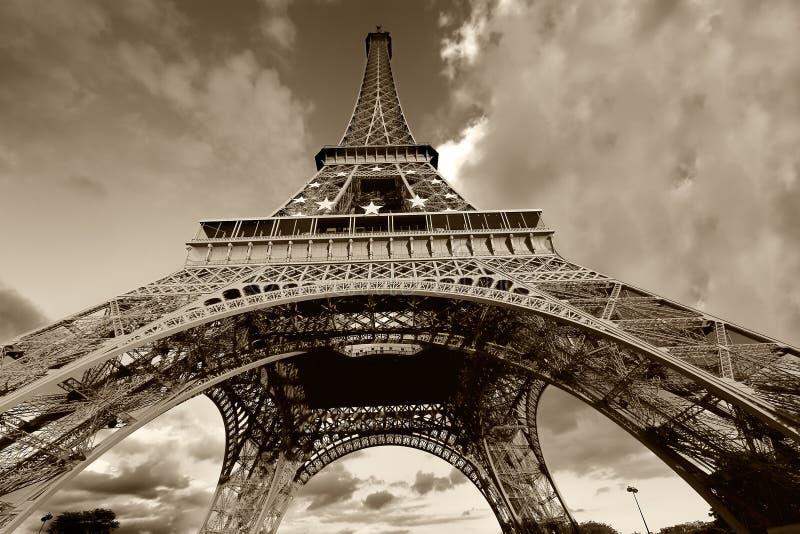 Torre Eiffel em preto e branco fotografia de stock royalty free