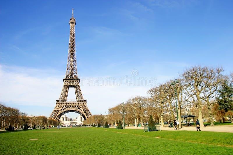 Torre Eiffel en la ciudad de París, Francia fotos de archivo libres de regalías