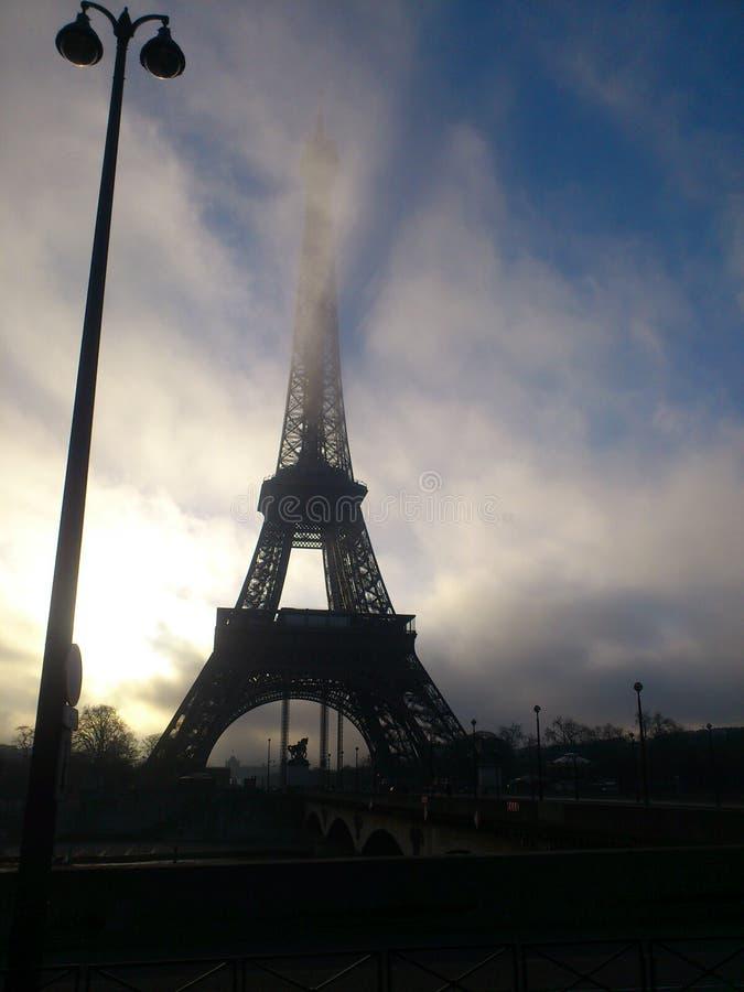 Torre Eiffel en París fotografía de archivo