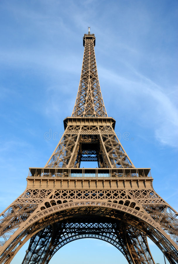 Torre Eiffel, estate fotografie stock libere da diritti