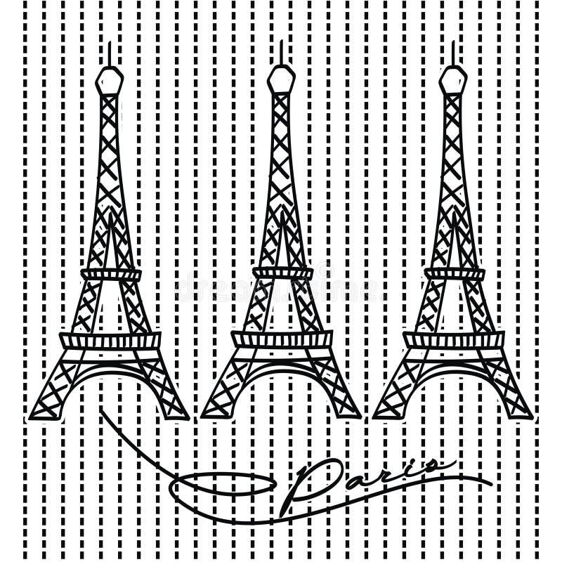 torre Eiffel famosa di migliore posto della Francia fotografie stock