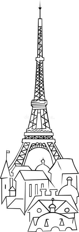 Torre Eiffel in Francia illustrazione vettoriale