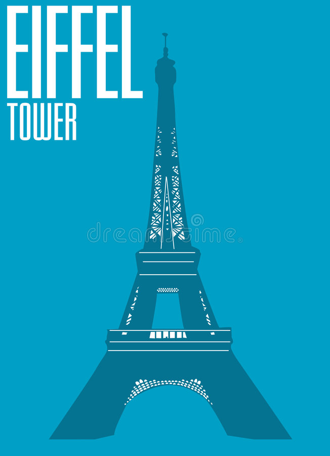 Torre Eiffel, Francia illustrazione di stock