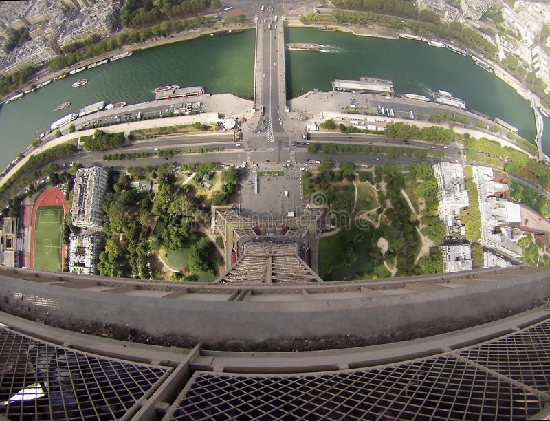Torre Eiffel Gopro images libres de droits