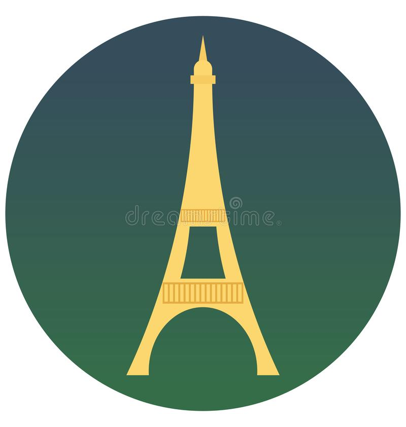 A torre Eiffel isolou o ícone do vetor que pode ser facilmente edita ou alterou-o ilustração do vetor