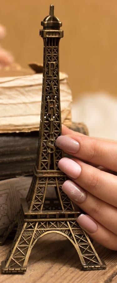 Torre Eiffel Keychain imagem de stock royalty free