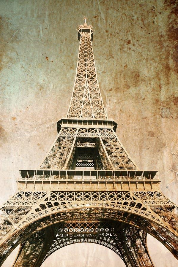 Torre Eiffel - maschera nel retro stile fotografia stock