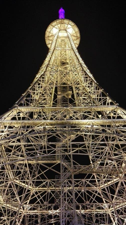 Torre Eiffel na cidade de Nantong Haimen (Jiangsu, China) foto de stock royalty free