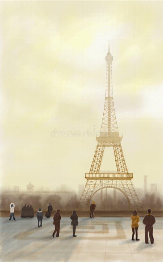 Torre Eiffel París ilustración del vector
