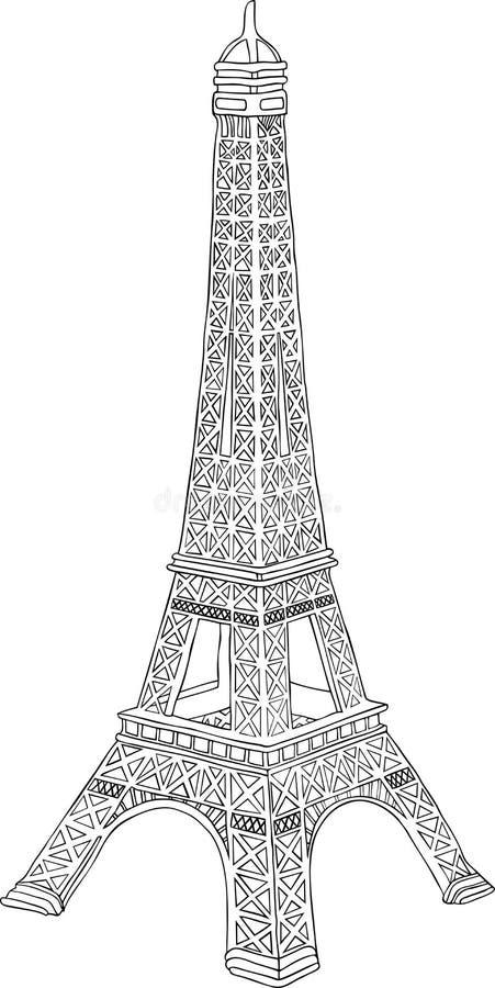 Torre Eiffel a Parigi, Francia illustrazione di stock