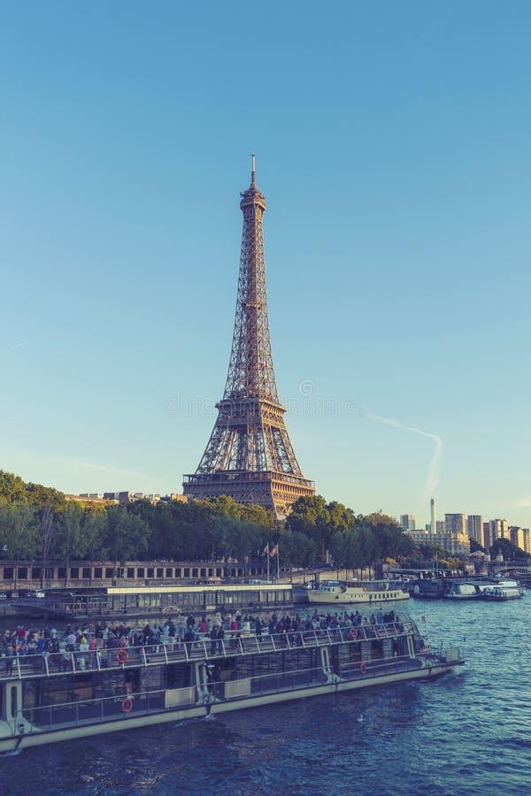 Torre Eiffel a Parigi, Francia fotografia stock libera da diritti
