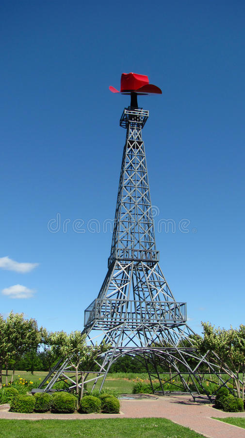 Torre Eiffel Parigi il Texas fotografia stock