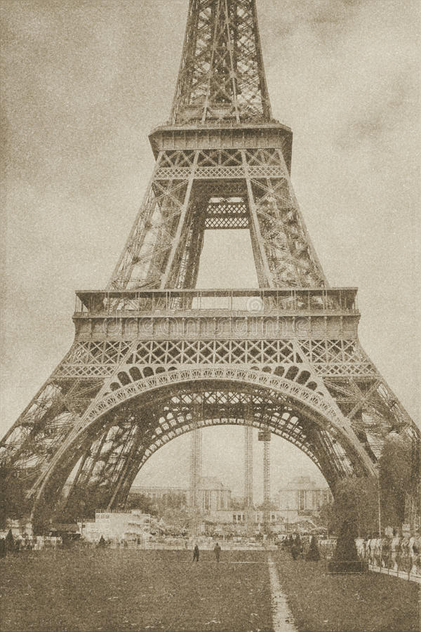 Torre Eiffel Paris do vintage foto de stock royalty free