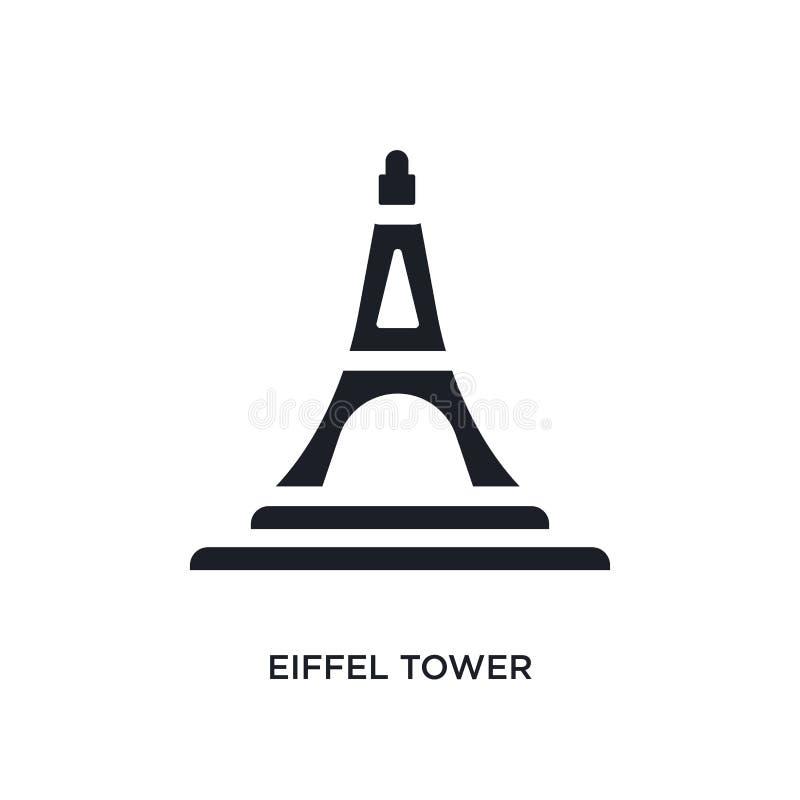torre Eiffel preta ícone isolado do vetor ilustra??o simples do elemento dos ?cones do vetor do conceito do curso logotipo editáv ilustração do vetor
