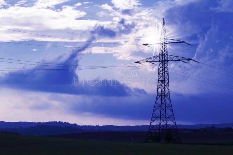 Torre elettrica immagini stock