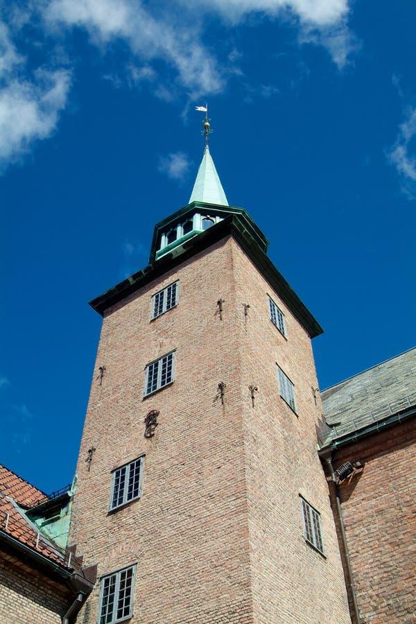 Torre em Akershus, Oslo fotografia de stock