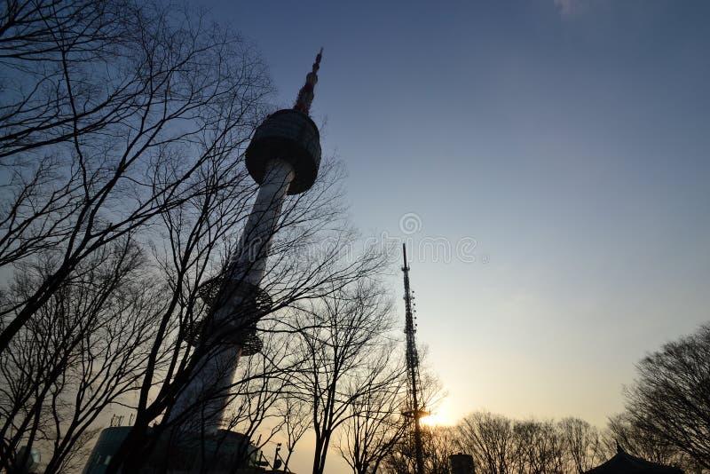 Torre em Coreia imagem de stock royalty free