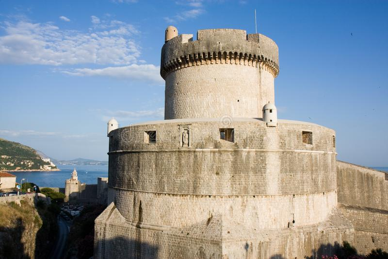 Torre en Dubrovnik, Croacia fotos de archivo libres de regalías