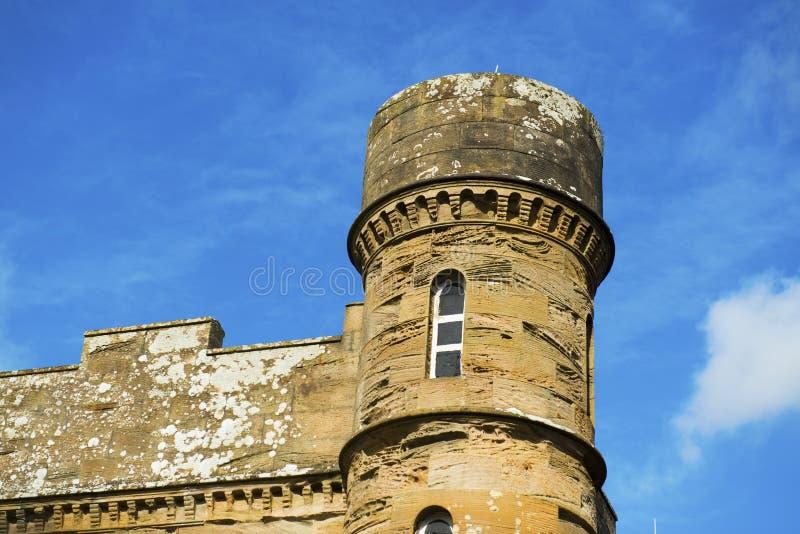 Torre En El Castillo De Culzean Imagen de archivo