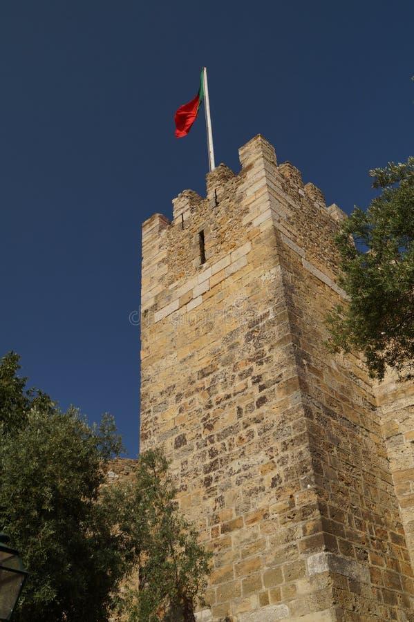 Torre en el castillo de San Jorge fotografía de archivo
