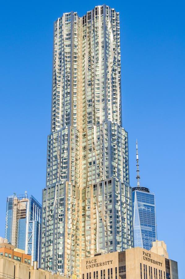 Torre en Lower Manhattan, NYC, los E.E.U.U. de Beekman fotografía de archivo