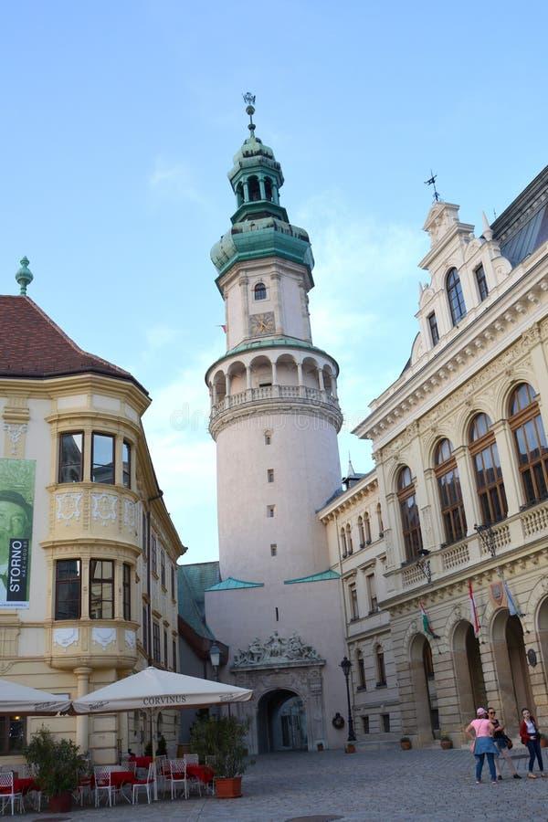 Torre en Sopron, Hungría imagen de archivo