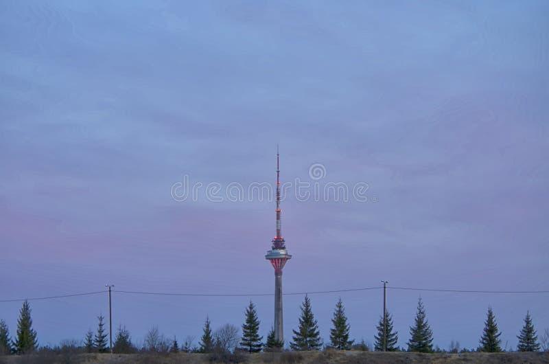Torre estonia de la TV fotos de archivo libres de regalías