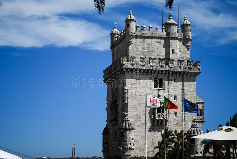 torre f?r belde lisbon M portugal arkivbild