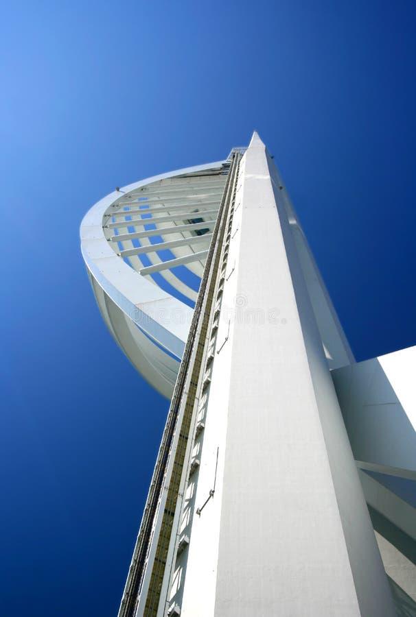 Torre famosa del Spinnaker, Portsmouth, Inglaterra. foto de archivo