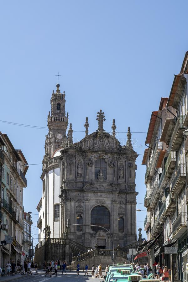 Torre famosa do dos Clerigos de Torre em Porto, Portugal fotos de stock royalty free