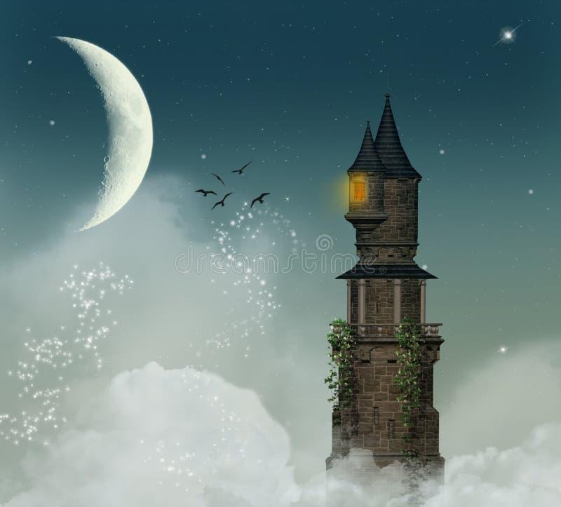 Torre fantástica stock de ilustración
