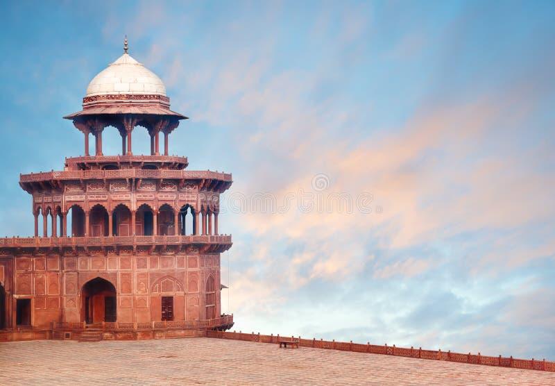 Torre forte del complesso di Taj Mahal immagine stock