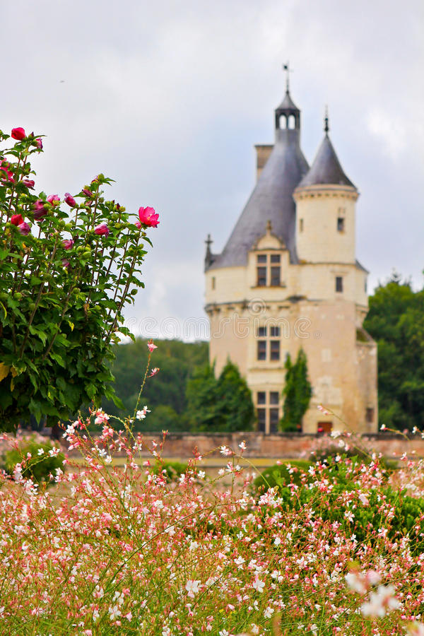 Torre francesa do castelo fotos de stock