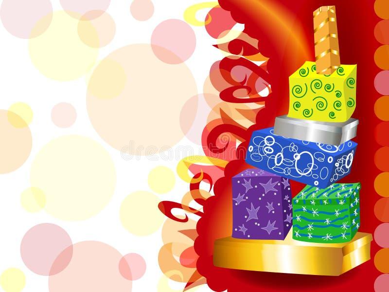 Torre Funky do presente ilustração stock