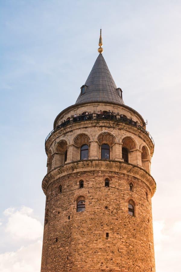 Torre Gálata de tiempos antiguos en Estambul imágenes de archivo libres de regalías
