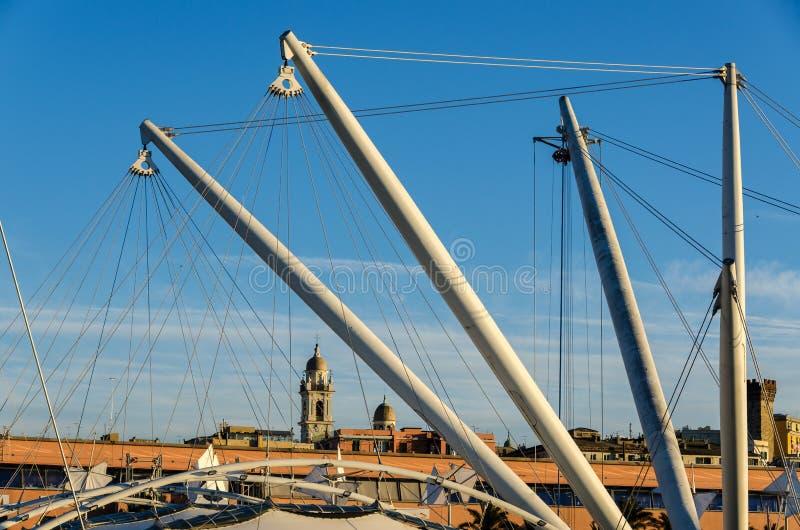 Torre a Genova fotografie stock libere da diritti