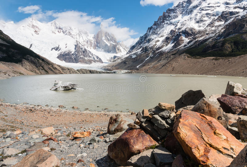 Torre glacier and laguna Torre in Southern Patagonia. Argentina royalty free stock photography
