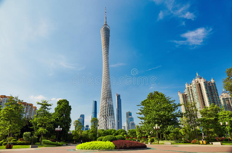 Torre Guangzhou China do cantão fotos de stock royalty free