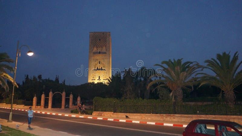 Torre hassan fotografia stock libera da diritti