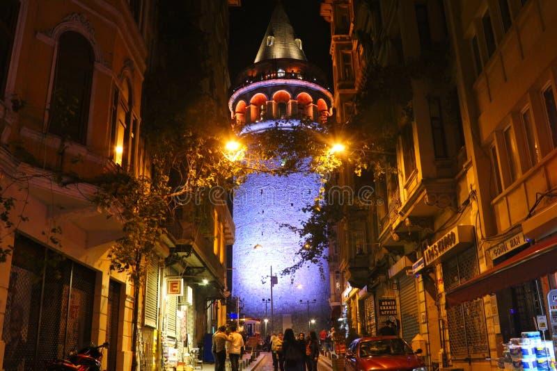 Torre histórica de Galata, Beyoglu, Istambul fotos de stock
