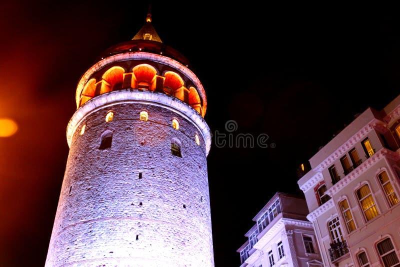 Torre histórica de Galata, close-up de Istambul fotos de stock